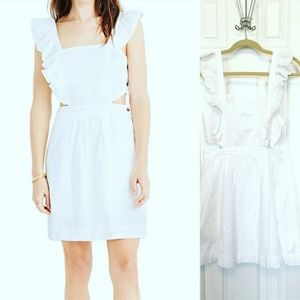 MADEWELL Eyelet Ruffle White Leilani Dress Sz 10